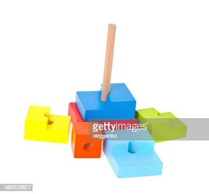 Kinder Spielzeug isoliert auf weißem Hintergrund : Stock-Foto