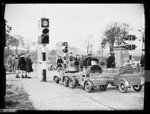 Children's traffic playground 1938 A photograph of children driving toy pedal cars taken by Saidman for the Daily Herald newspaper on 27 October 1938...