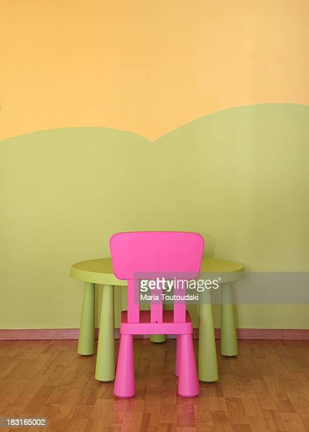Child's chair and table