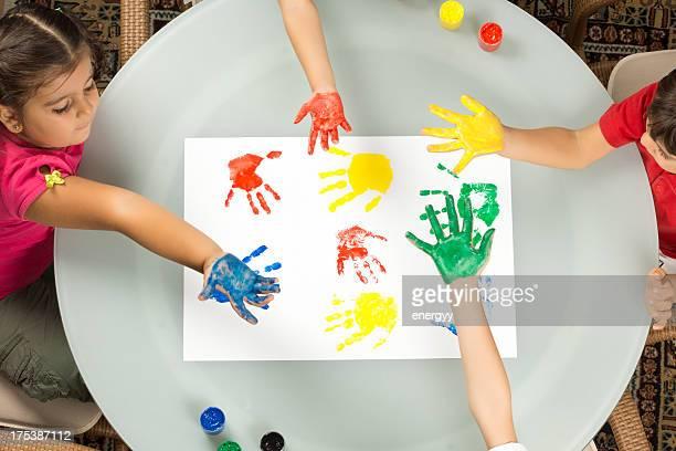 Child's Color Hand Prints