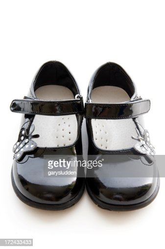 childs shoes isolated on white