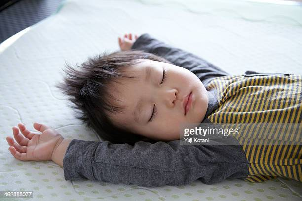 A child's sleeping face