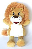 Child's soft toy plush lion hand puppet