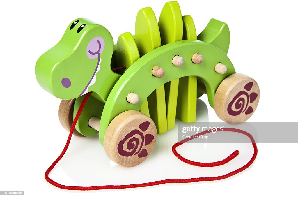 Childs wooden toy crocodile
