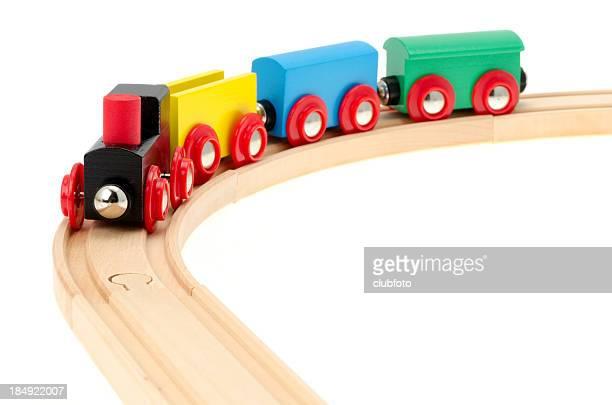 Child's wooden toy train