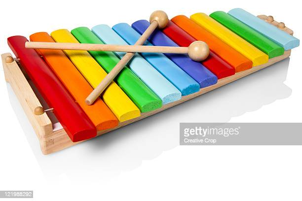 Childs wooden toy xylophone