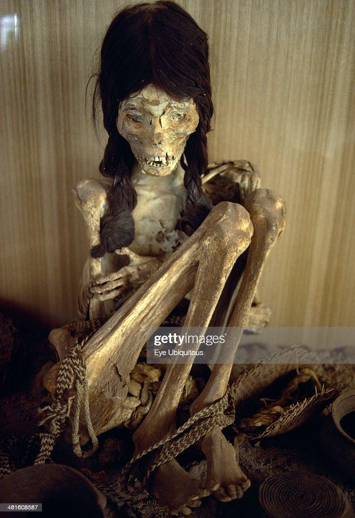 Chile Antofagasta San Pedro de Atacama Chinchorro Mummy Mummified girl
