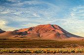 Chile, Atacama Desert, San Pedro de Atacama, Orange hill