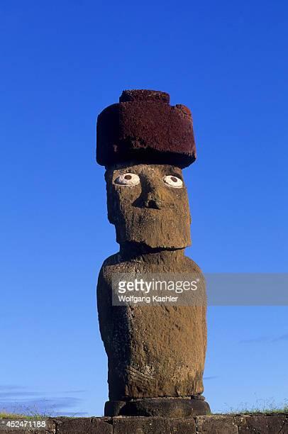 Chile Easter Island Hanga Roa Ahu Tahai Moai Statue