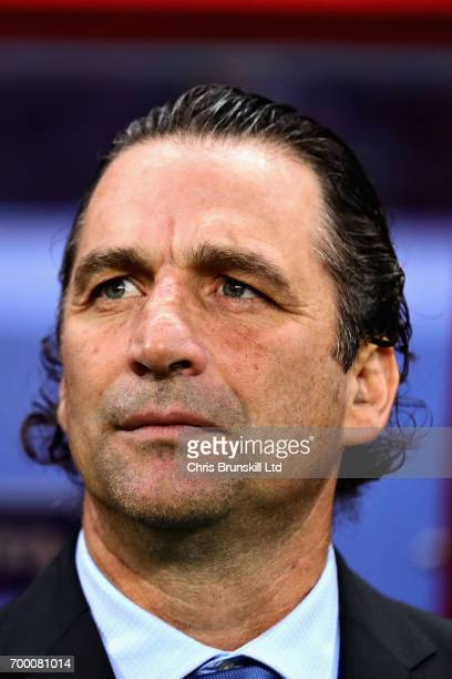 Chile Head Coach Juan Antonio Pizzi looks on during the FIFA Confederations Cup Russia 2017 Group B match between Germany and Chile at Kazan Arena on...