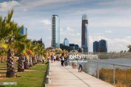 Chile, Santiago, Waterfront Park