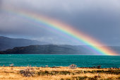 Chile, Torres del Paine National Park, Lake Pehoe
