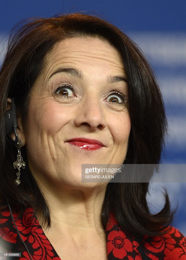 Chilean actress Paulina Garcia addresses a press conference for the film 'Gloria' presented in the Berlinale Competition of the 63rd Berlin...