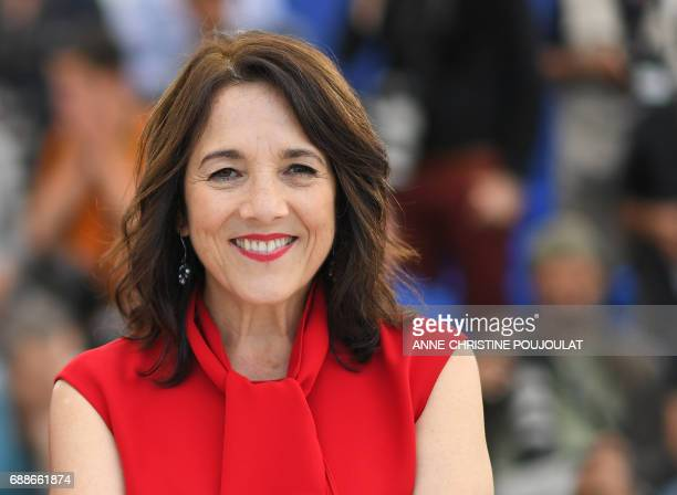Chilean actress Paulina Garcia poses on May 26 2017 during a photocall for the film 'La Novia del Desierto' at the 70th edition of the Cannes Film...