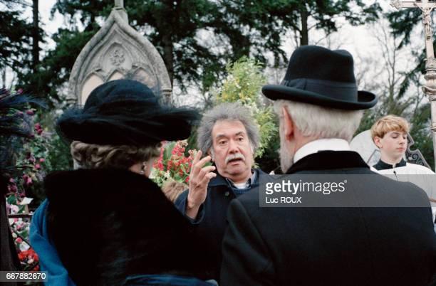 Chilean director Raoul Ruiz on the set of his film Le Temps Retrouve d'Apres l'Oeuvre de Marcel Proust