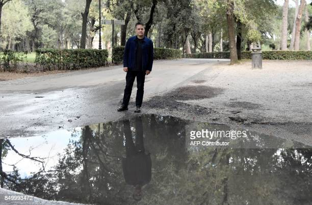 Chilean film director Sebastian Lelio poses during a photocall of his movie 'A Fantastic Woman'' on September 20 2017 in Rome / AFP PHOTO / TIZIANA...