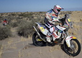 Chilean KTMs rider Francisco 'Chaleco' Lopez competes during the Stage 5 of the Dakar 2014 between Chilecito and Tucuman Argentina on January 09 2014...