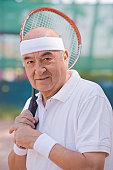Chilean man playing tennis
