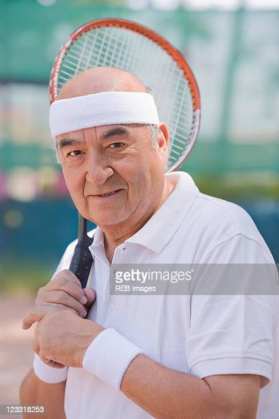 Chilean man playing tennis