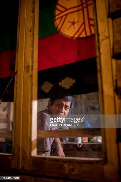 Chilean Mapuche Ramon Llanquileo poses at his home in in Temuco on November 07 2017 The Mapuches which represent about 7% of the Chilean population...