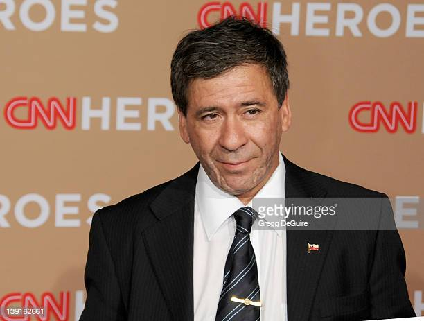 Chilean Miner Johnny Barrios arrives at the 2010 CNN Heroes An AllStar Tribute at the Shrine Auditorium on November 20 2010 in Los Angeles California