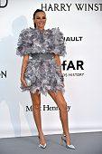 Chilean model and actress Carolina Parsons poses as she arrives for the amfAR's 23rd Cinema Against AIDS Gala on May 19 2016 at the Hotel du...