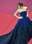 Chilean model and actress Carolina Parsons poses as she arrives on May 17 2016 for the screening of the film 'Julieta' at the 69th Cannes Film...