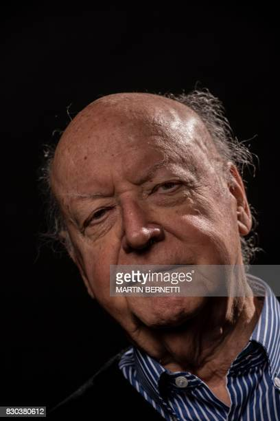 Chilean novelist and journalist Jorge Edwards poses during a photo session in Santiago on August 11 2017 Edwards attended law school at the...