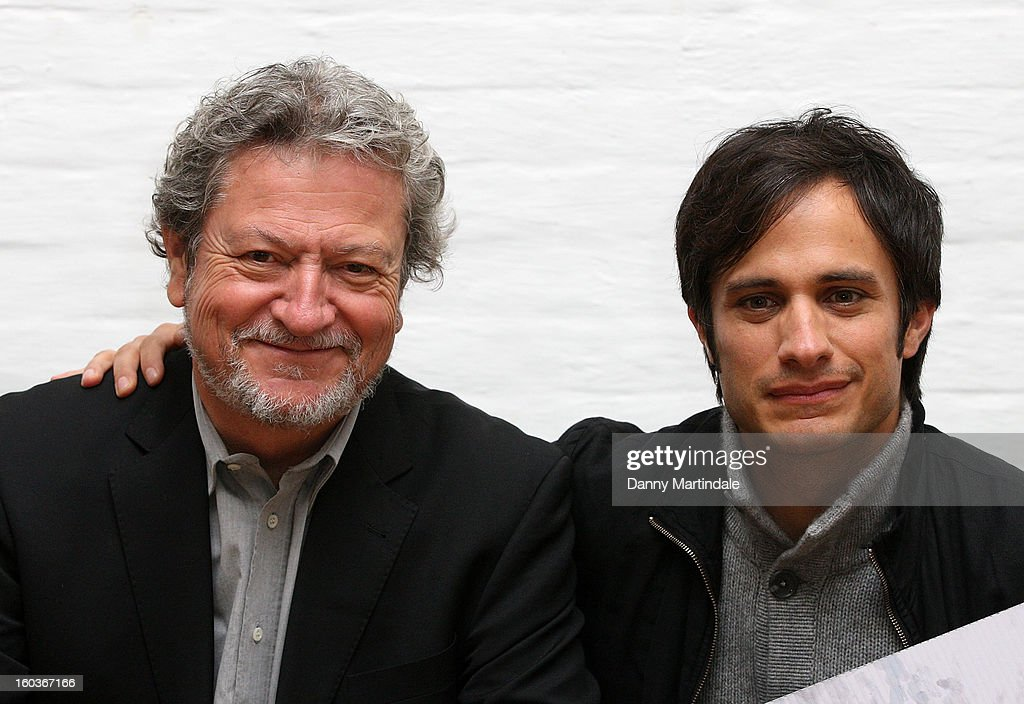 Chilean PR man Rene Saavedra who is played in the film by actor Gael Garcia Bernal attend a photocall to promote his Oscar nominated film 'No', which tells the story of Chilean dictator Augusto Pinochet at The Human Rights Action Centre on January 30, 2013 in London, England.