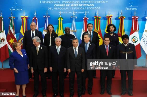 Chilean President Michelle Bachelet Uruguay's President Tabare Vazquez Brazilian president Michel Temer Mendoza province Governor Alfredo Camejo...
