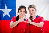 Chilean soccer fans