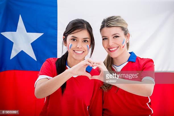 Chileno, los fanáticos del fútbol