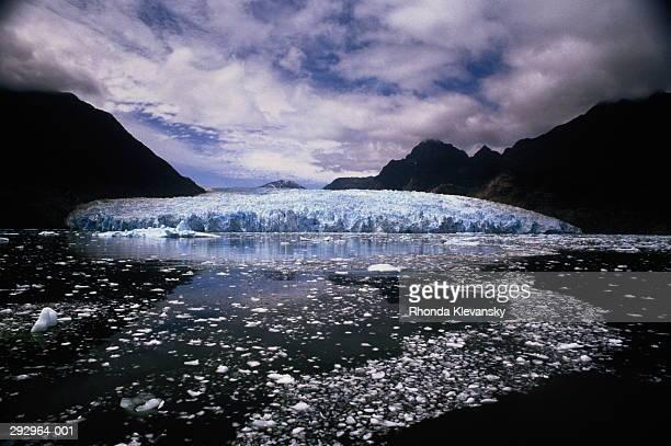 Chile,Patagonia,Aisen Region, Glacier San Rafael,lagoon in front