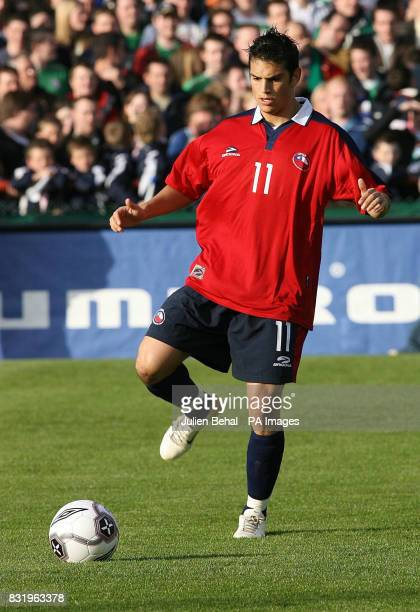 Chile's Mark Gonzalez Hoffman in action during the international friendly match against Republic of Ireland at Lansdowne Road Dublin