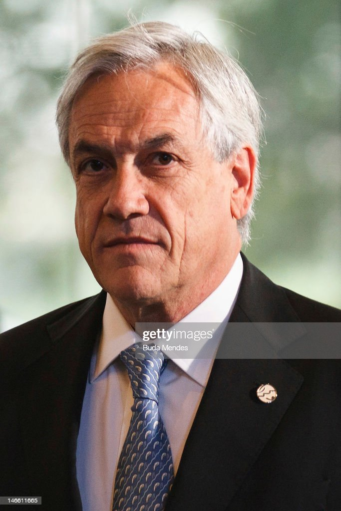 Chile's President <a gi-track='captionPersonalityLinkClicked' href=/galleries/search?phrase=Sebastian+Pinera&family=editorial&specificpeople=768332 ng-click='$event.stopPropagation()'>Sebastian Pinera</a> during opening the United Nations Conference on Sustainable Development, or Rio+20, on June 20, 2012 in Rio de Janeiro, Brazil.