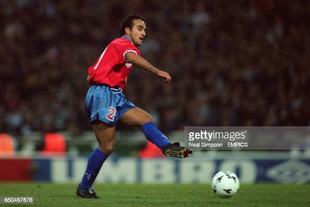 Chile's Ronald Fuentes in action during the match