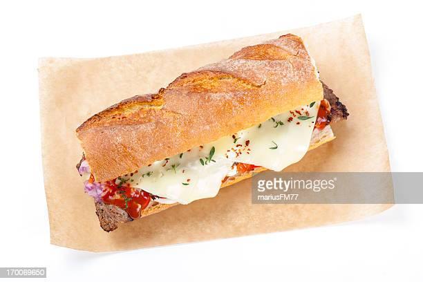 Piment Cheese Steak Sandwich Sub de