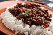 Chili con carne with Basmati rice