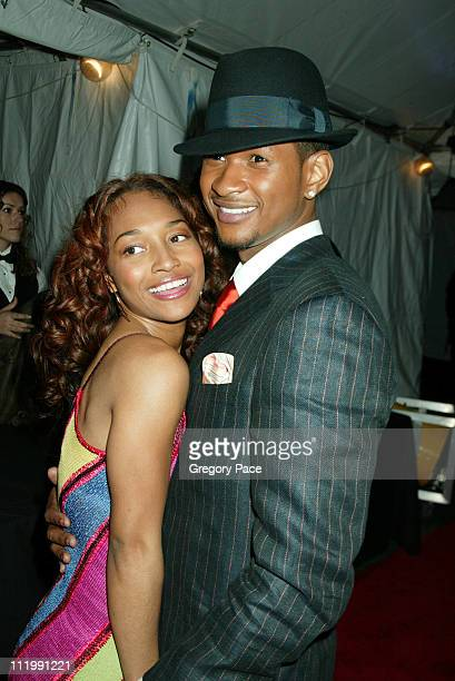 Chili of TLC and Usher during 2003 Clive Davis PreGRAMMY Party at The Regent Wall Street in New York NY United States