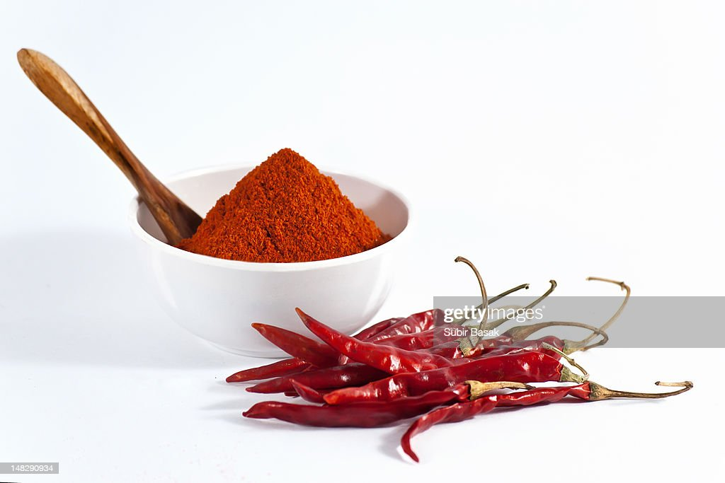 Chili powder and red chilies.