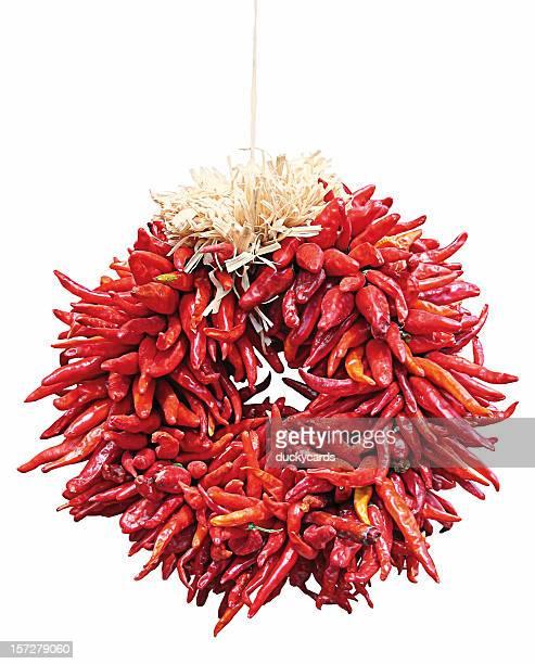 Chile Ristra Couronne florale