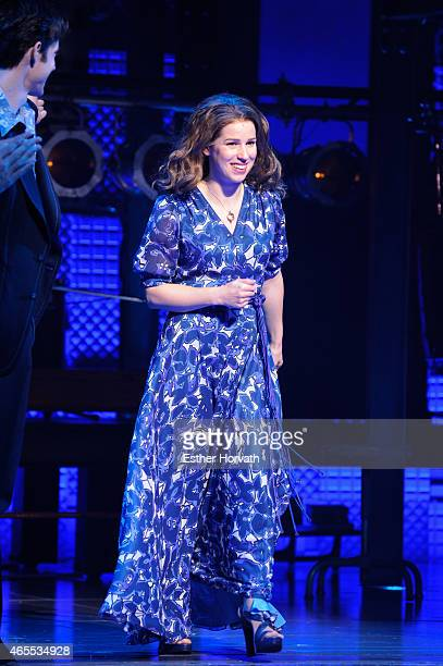 Chilina Kennedy onstage during her debut performance in Broadway's 'Beautiful The Carole King Musical' at Stephen Sondheim Theatre on March 7 2015 in...