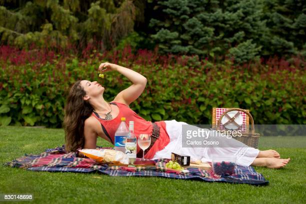 TORONTO ON AUGUST 4 Chilina Kennedy star of Beautiful the Carole King Musical talks about her picnic essentials Photographed at the Toronto Music...