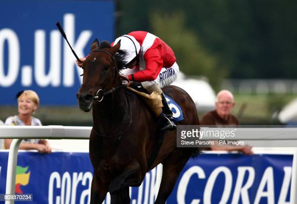Chilled ridden by Ryan Moore wins the Win More With coralcouk Green Tick Handicap at Sandown Park Racecourse Esher