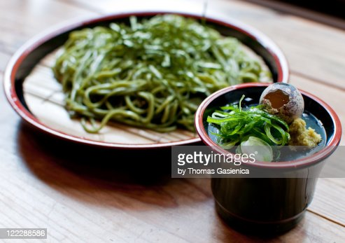 Chilled soba for lunch