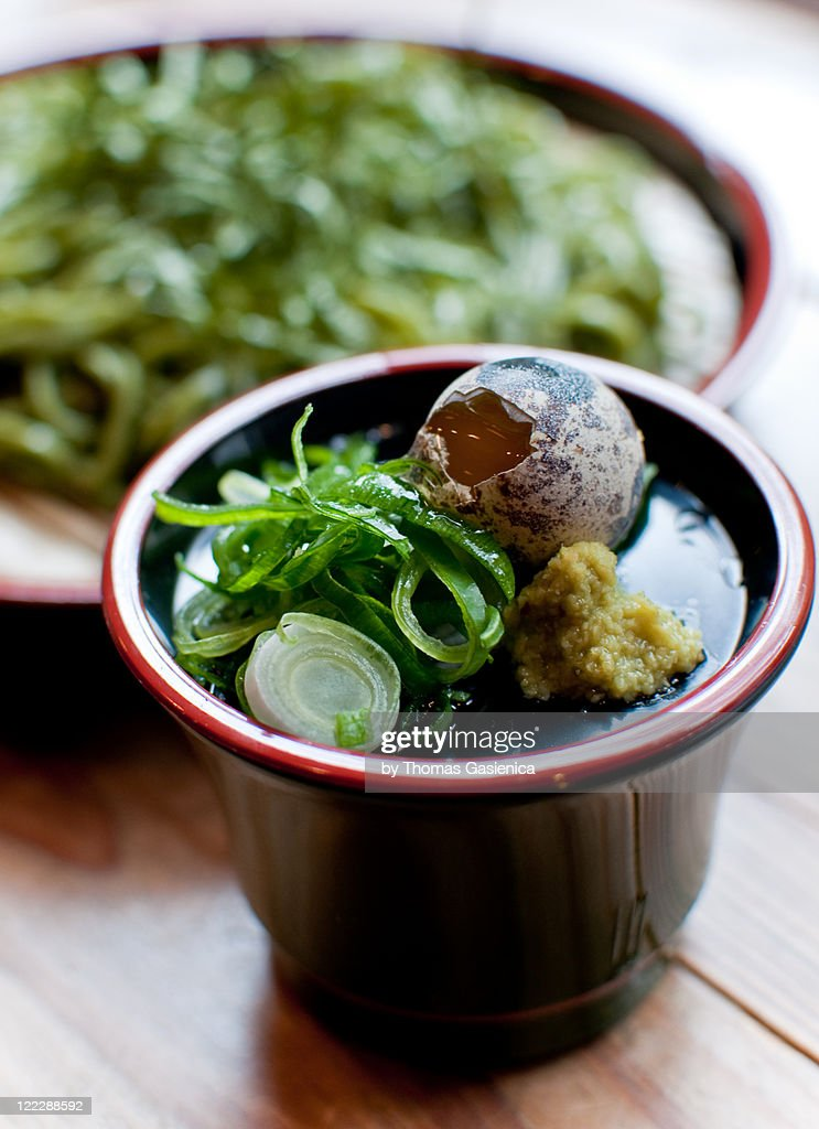 Chilled soba for lunch : Stock Photo