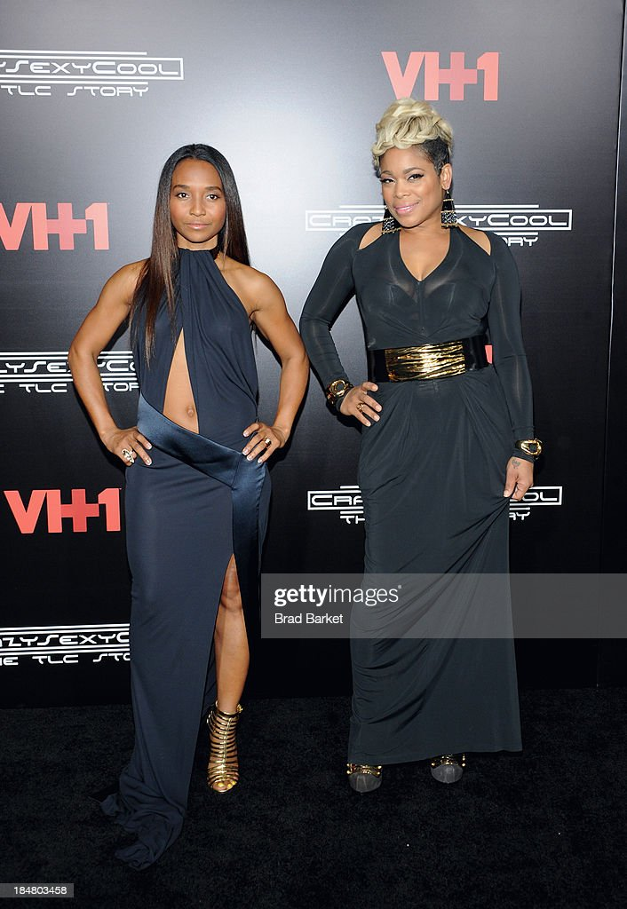 Chilli and <a gi-track='captionPersonalityLinkClicked' href=/galleries/search?phrase=T-Boz&family=editorial&specificpeople=715877 ng-click='$event.stopPropagation()'>T-Boz</a> attends the CrazySexyCool Premiere Event at AMC Loews Lincoln Square 13 theater on October 15, 2013 in New York City.