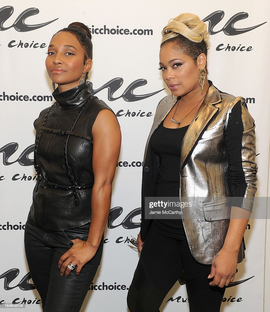 Chilli and T-Boz of TLC Stop By Music Choice's 'You & A' on October 14, 2013 in New York City.