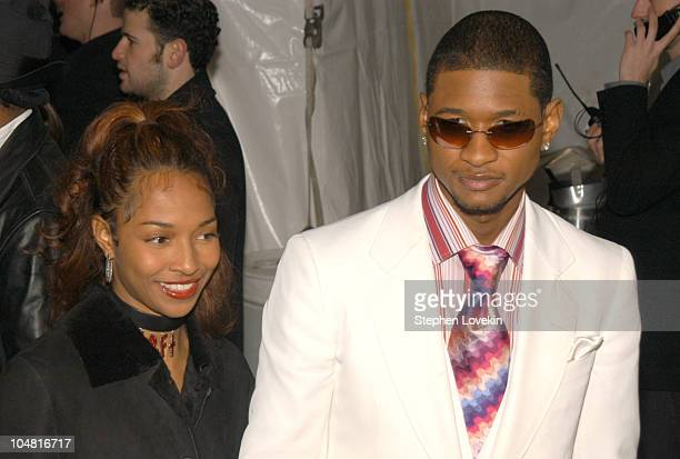 Chilli and Usher during EMI Grammy Party Arrivals at The Blue Fin at The W Hotel in New York City New York United States