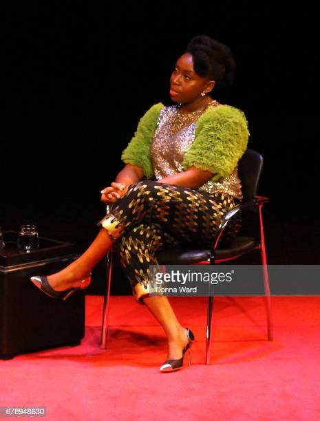 Chimamanda Ngozi Adichie appears to speak during Times Talks at Florence Gould Hall on May 4 2017 in New York City